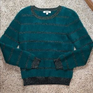 NWOT BB Dakota Fuzzy Glitter Holiday Sweater- S